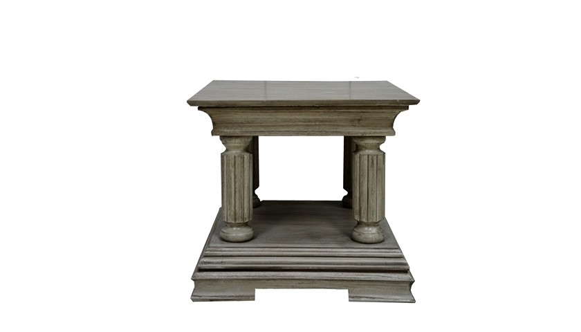 French Empire Lamp Table (Barndoor Grey)