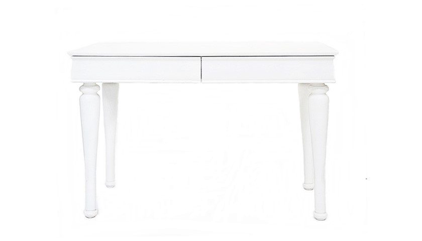 Belair Twin Table 2 Drawer (White)