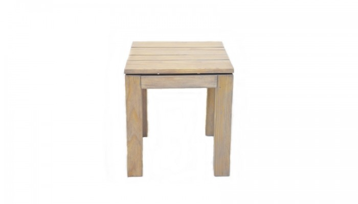 Pine Slatted Side Table (Smoke)