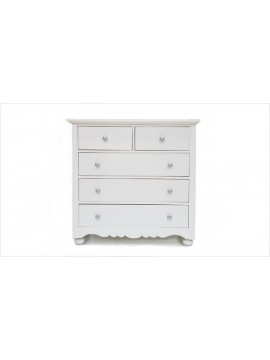 Camille Chest of Drawers (White) - End of Product Range - Reduced to 368.00